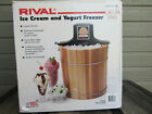 Rival Ice Cream and Yogurt Freezer Maker Wood Model 8455 Pre Owned In Box