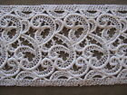 9 1 2 YDS WHITE SCROLL COTTON CORD VENISE LACE INSERT