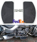 2x Motorcycle Left & Right Floorboards Foot Boards Pedal Universal Metal Rubber