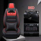 5-seats Car Seat Cover Full Frontrear Cushion Size L Deluxe Pu Leather Pillow