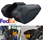 Large Capacity Motorcycle Saddle Bags Luggage & Rain Cover Durable Oxford Fabric