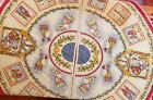 DIANNA MARCUM NATIVITY CHRISTMAS TREE SKIRT QUILTED 2 PANELS PEACE ON EARTH