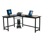L shaped Corner Desk Gaming Computer Workstation Table w Cpu Stand Home Office