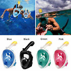 Full Face Snorkel Mask Scuba Diving Swimming Easy Breath Underwater Anti Fog New