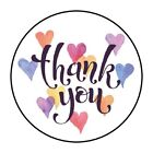 30 Pretty Heart Thank You Envelope Seals Labels Stickers 15 Round hearts