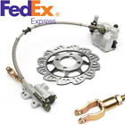Metal Brake Master Cylinder & Brake Disc For 110cc 125cc Motorcycle ATV USA Ship