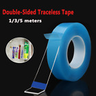 1 2 3 5M Double Sided Tape Heavy Duty Adhesive Traceless Clear Washable Remove