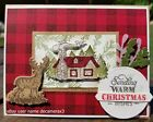 CHRISTMAS CARD KIT Handmade Set of 4 Stampin Up Rustic Retreat Cabin Deer