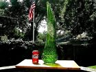 LARGE TALL 25 VINTAGE HANDCRAFTED GREEN VASE