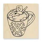 STAMPENDOUS RUBBER STAMPS COCOA HOT TUB NEW wood STAMP