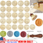 Initial Vintage Wax Badge Seal Stamp Wax Alphabet 26 Letters A Z Kit Wedding US