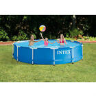 Intex 12 x 30 Metal Frame Above Ground Swimming Pool with Filter Pump
