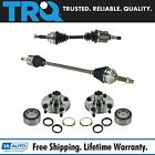 TRQ Front CV Axle Shaft Assembly Wheel Hub Bearing Kit Set 4pc for Corolla Prizm