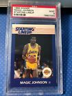 1988 Kenner Magic Johnson LA Lakers Starting Lineup Card Basketball PSA 9 Mint