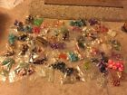 Lot of 70 Glass Crystal Acrylic Clay Beads Findings Stretchy String Crimps