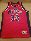 Grant Hill autographed Authentic Detroit Pistons red Champion jersey NBA