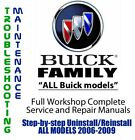 Buick Family 2006 - 2009 Repair Workshop Service Manual Complete on DVD