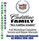 Cadillac Family 2006 - 2009 Repair Workshop Service Manual Complete on DVD
