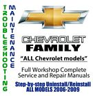Chevrolet Family 2006 - 2009 Repair Workshop Service Manual Complete on DVD