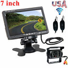 Wireless IR Rear View Backup Camera Night Vision System +7 Monitor For RV Truck