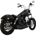 Vance  Hines 2 into 1 Upswept Full Exhaust System Black Harley Davidson Dyna