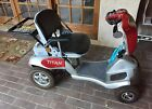 TITAN 4 HUMMER XL FOLDING MOBILITY TRAVEL SCOOTER TZORA USED WORKING
