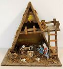 VTG Large Nativity Creche  Figurines Made In Italy 10 pc set