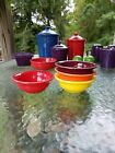 SET 4 FIESTA 9oz stacking FRUIT salsa BOWL claret poppy scarlet sunflower NEW