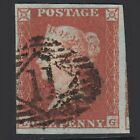 G46 GB QV 1841 1d RED BROWN PLATE 94 SG8 LG FU 4 MARGINS LONDON NO11