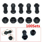 100 Sets Black Motorcycle Front Disc Brakes Calipers Pump Rubber Dust Cover Caps