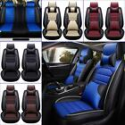 11Pcs Car Seat Cover Protector&Cushion Front & Rear Full Set PU Leather Interior
