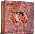New CHIPBOARD ALPHABET in Cigar Box 101 Letters  Shapes Purple Orange Red Pink