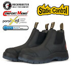 ROCKROOSTER Safety Work Boots Mens Shoes Steel Toe Water Resistant Slip on Shoes