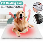 S L Dog Cat Pet Mat Bed Pad Self Heating Soft Warm Rug Thermal Washable Home US