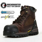 ROCKROOSTER Mens Work Boots Composite Toe Wateproof Anti Puncture Leather Boots