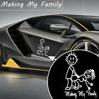US MAKING MY STICK FAMILY FUNNY JDM DRIFT EURO WINDOW VINYL DECAL CAR STICKER