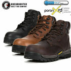 ROCKROOSTER Mens Work Boots Composite Toe Anti Puncture Waterproof Safety Boots