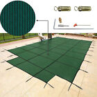Swimming Pool Cover 18X36 FT W Center Step Rectangular Safety Cover Winter