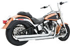 Patriot Long Chrome Full Exhaust FrP HD00032 For 86 17 HD Softail