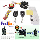 Black Motorcycle Lock Security 2-Way Alarm 125dB Remote Control Engine Start Kit