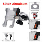 CNC Silver 360 Rotation Motorcycle Scooter Handlebar Phone Holder +USB Charger