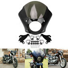 US Gauntlet Headlight Fairing W Trigger Lock Mount Kit For Harley XL 1200 883 48