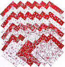 SCARLET ROMANCE from Blank Quilting 48 5 rotary cut fabric square set