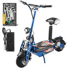 Folding Electric Scooter with Large Wheels Powerful 48v 1600w Motor Blue