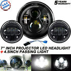Fit Harley Electra Glide Classic 7 LED Headlight + 45 Passing Lights