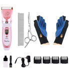 Professional Pet Dog Cat Clippers Scissors Hair Grooming Trimmer Shaver Kit Set
