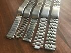 JOB LOT OF x 5 VINTAGE SEIKO STAINLESS STEEL GENTS USED WATCH STRAPS (SL22)