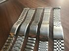 JOB LOT OF x 5 VINTAGE SEIKO STAINLESS STEEL GENTS USED WATCH STRAPS (SL23)