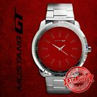New Rare Mustang GT Red Velvet Limited Edition Sport Metal Watch