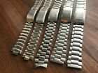 JOB LOT OF x 5 VINTAGE SEIKO STAINLESS STEEL GENTS USED WATCH STRAPS (SL36)